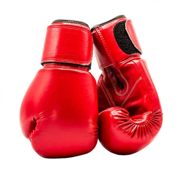 Guante de boxeo aislado en blanco con trazado de recorte