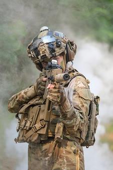 Guardabosques del ejército de los estados unidos durante la operación militar