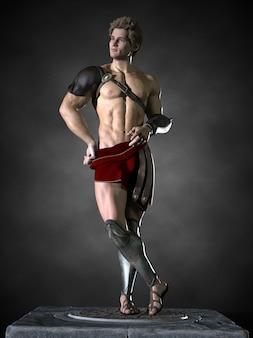 Un guerrero romano. ilustración 3d