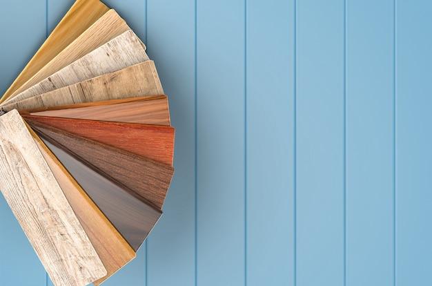 Guía de colores de madera de renderizado 3d