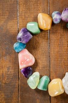 Guijarros de colores piedras