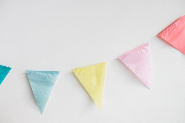 Guirnalda banderines de papel coloridos