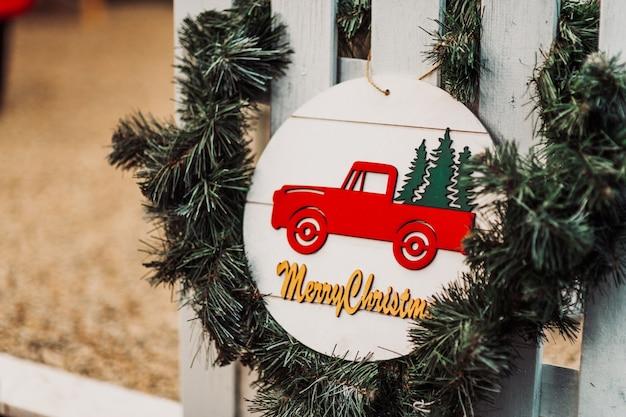 Guirnalda de decoración de decoración navideña