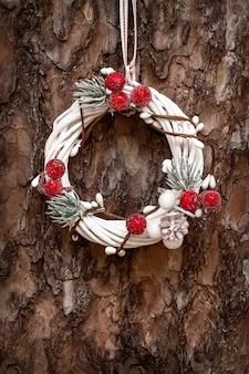 Guirnalda de navidad decoración closeup