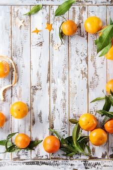 Guirnalda de navidad con mandarinas