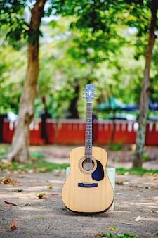 Guitarra acústica, un instrumento de muy buen sonido.