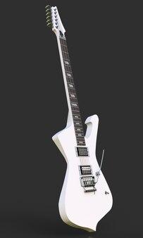 Guitarra eléctrica con estilo blanca