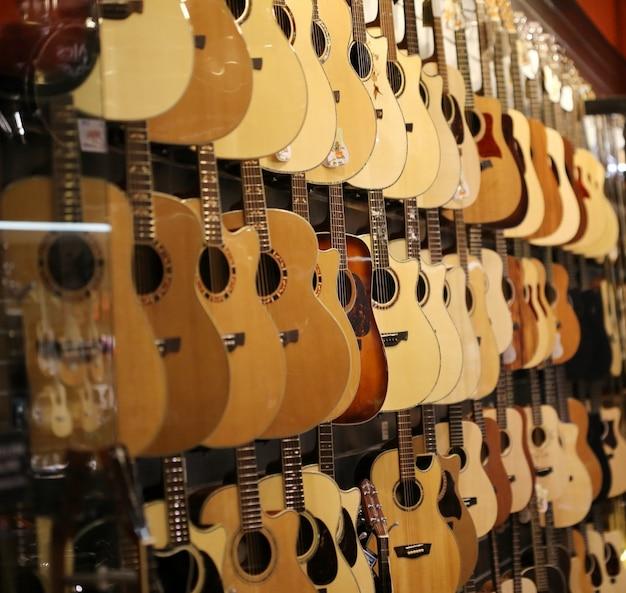 Guitarra en tienda