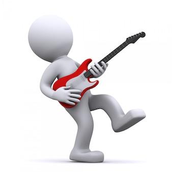 Guitarrista 3d aislado