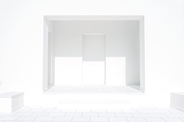 Habitación blanca vacía