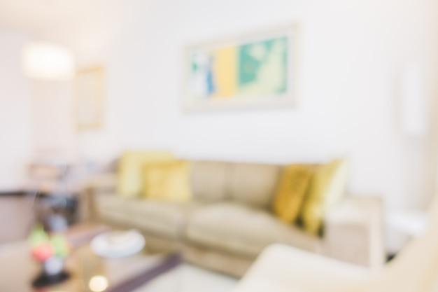 Habitación borrosa con un cuadro