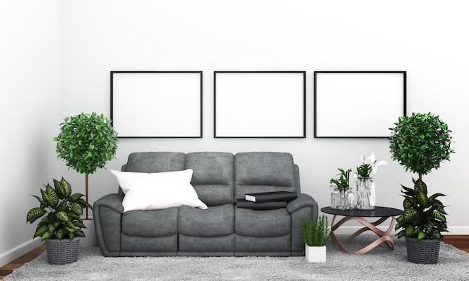Habitación de estilo tropical moderno con composición