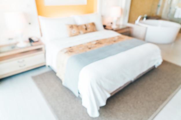 Habitación de hotel de desenfoque