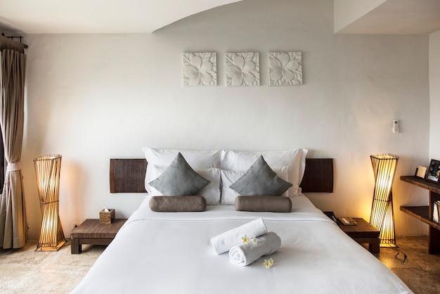 Habitación de hotel en un resort de lujo