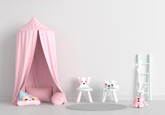 Habitación infantil blanca con espacio de copia