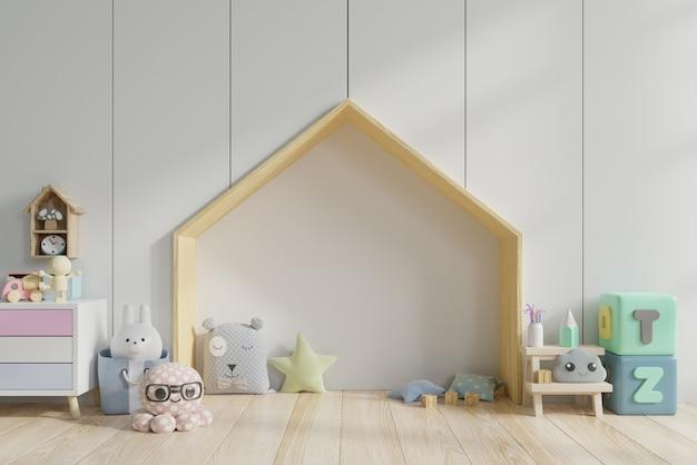 Habitación infantil con juguetes.