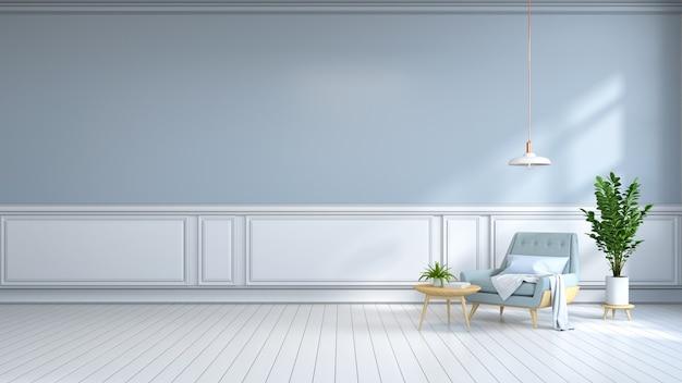 Habitación interior minimalista