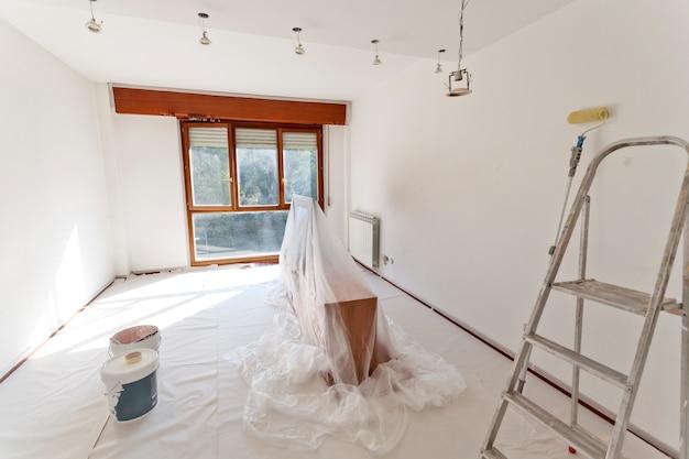 Habitación lista para pintar