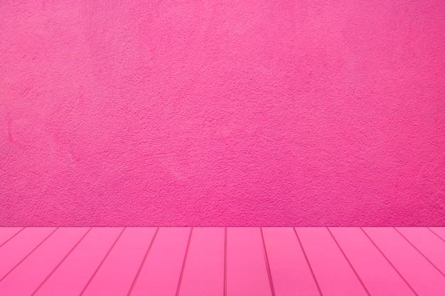 Habitación rosa en blanco para producto de exhibición