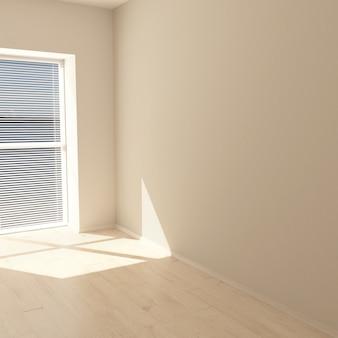 Habitación vacía contemporánea 3d