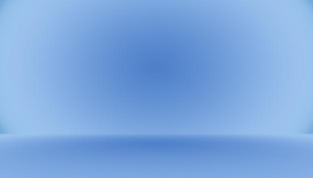 Habitación vacía de fondo abstracto degradado azul con espacio para texto e imagen.