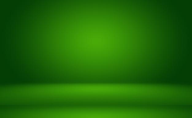 Habitación vacía de fondo abstracto degradado verde con espacio para texto e imagen.