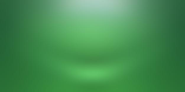 Habitación vacía de fondo de estudio abstracto degradado verde liso de lujo con espacio para texto e imagen