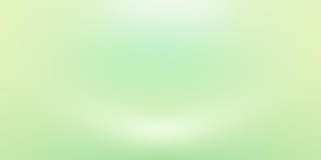 Habitación vacía de fondo de estudio abstracto degradado verde liso de lujo con espacio para texto e imagen.