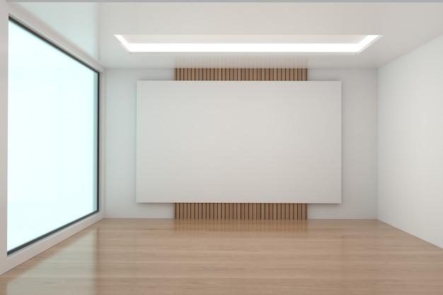 Habitación vacía imitan para arriba en la representación 3d