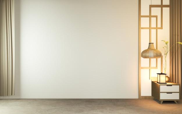 Habitación vacía moderna, diseño minimalista estilo japonés.