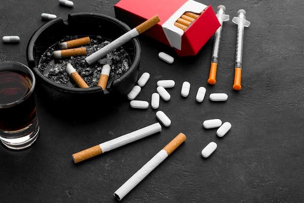 Hábitos no saludables de alto ángulo