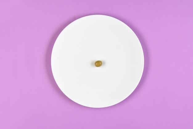 Hacer dieta con una aceituna