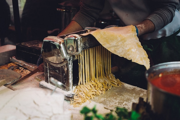 Hacer pasta casera fresca