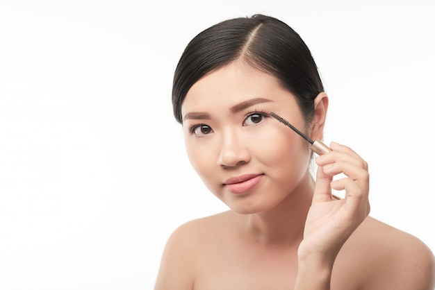 Haciendo maquillaje
