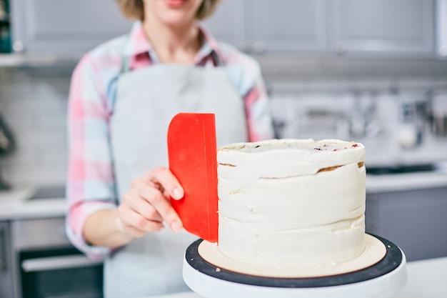 Haciendo pastel