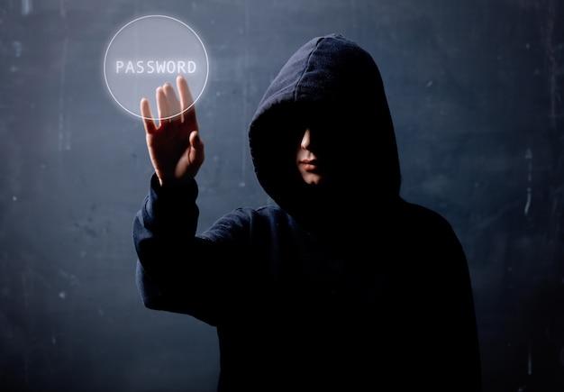 Hacker in the hood, concepto de seguridad de datos personales en internet