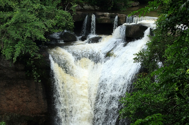 Haew su wat cascada bosque tropical