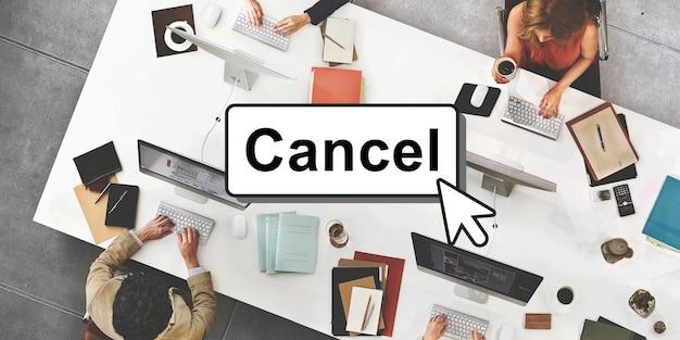 Haga clic en cancelar concepto de interfaz de botón