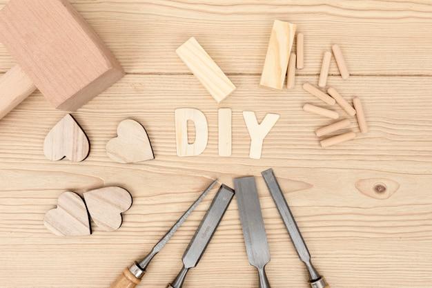 Hágalo usted mismo concepto de carpintería de madera