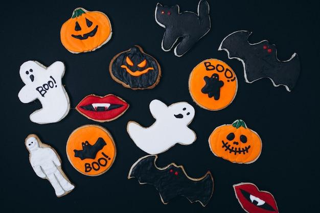 Halloween decoradas galletas caseras de jengibre