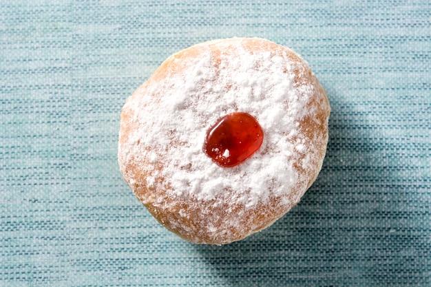 Hanukkah sufganiyot donuts judíos tradicionales para hanukkah