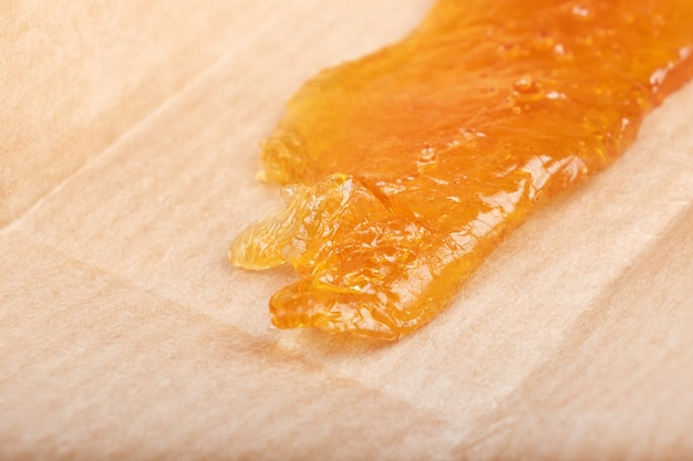 Hash de resina de cera dorada concentrada de cannabis, marihuana medicinal recreativa.