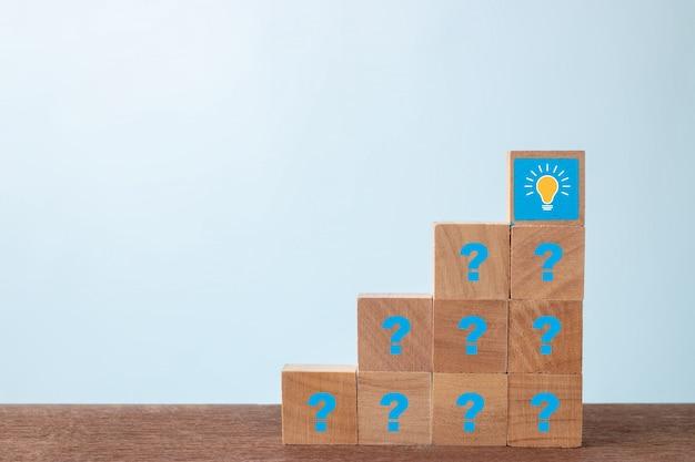 Hay muchas preguntas y preocupaciones planteadas. concepto de idea
