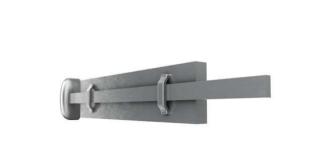 Hebilla sobre un fondo blanco aislado. ilustración 3d Foto Premium