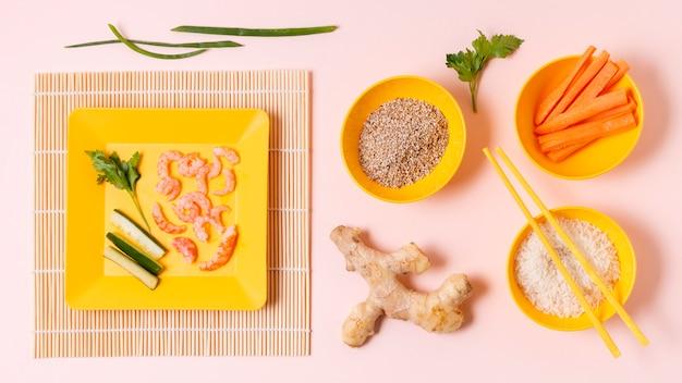 Helathy y sushi fresco