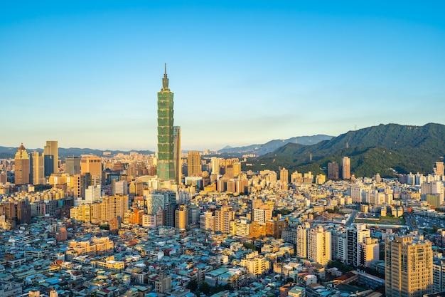 Hermosa arquitectura de la ciudad de taipei