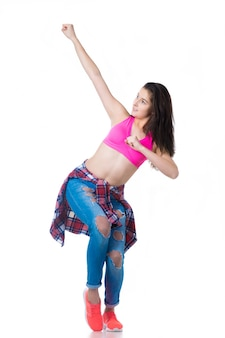 Hermosa bailarina de hip-hop