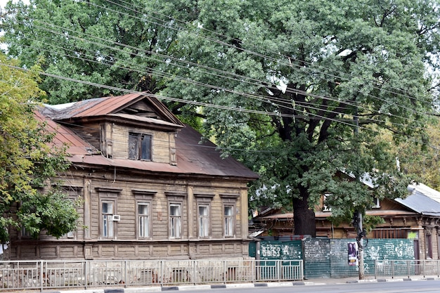 Hermosa casa de madera antigua