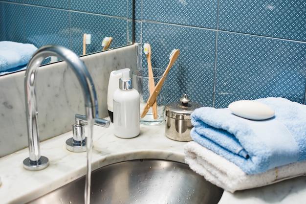 Hermosa composición para concepto de spa o baño