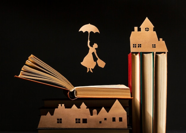 Hermosa composición de diferentes libros.